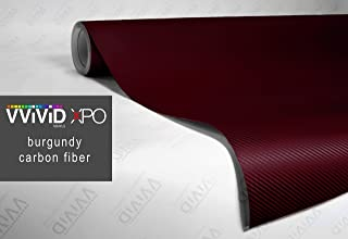 VViViD XPO Burgundy Dry Carbon Fiber Vinyl Wrap Roll with Air Release Technology (6ft x 5ft (Hood, Roof or Trunk Wrap Kit))