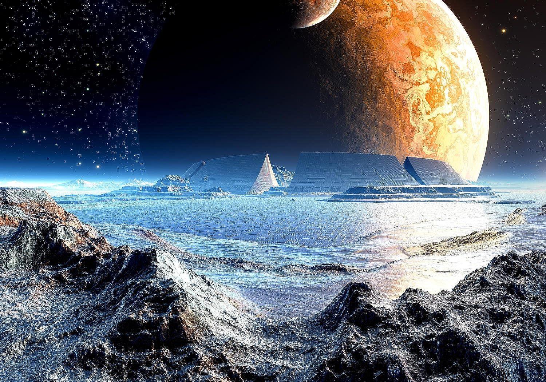 Wandmotiv24 Fototapete Neuer Planet M0441 XL 350 x 245 cm - 7 Teile Wandbild - Motivtapete - Tapete