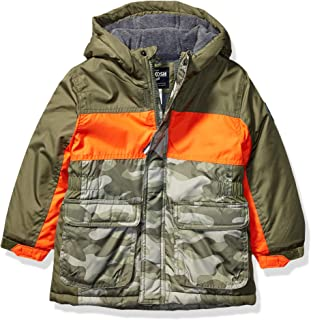 Osh Kosh Boys' Little Heavyweight Colorblock Puffer Coat
