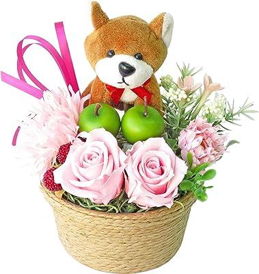誕生日プレゼント 花 女性 プレゼント 誕生日 フラワー プリザーブドフラワー バラ フラワーアレンジメント 柴犬 アレンジ