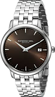 Raymond Weil - Reloj Analógico para Hombre de Cuarzo con Correa en Acero Inoxidable 5488-ST-70001