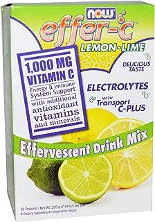 NOW Foods - Effer-C Lemon-Lime 30 Packet(s) (Pack of 3)