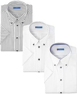 [アトリエサンロクゴ] ワイシャツセット 半袖 ワイシャツ 3枚セット 形態安定 クールビズ メンズ