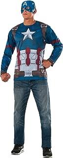 Rubie's Men's Marvel Captain America: Civil War Costume Top and Mask, Standard