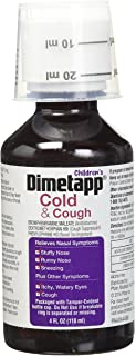 Dimetapp DM Elixir Cold & Cough Relief Syrup With Grape Taste for Childrens - 4 Oz