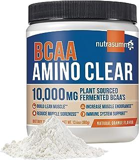 Nutrasumma BCAA Amino Clear, Natural Orange, 380g - Vegan Fermented BCAA's, Glutamine, Arginine, Maca, Suma - Energy, Reco...