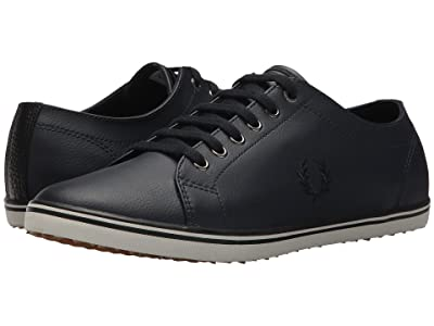 Fred Perry Kingston Leather (Navy/Black/Porcelain) Men