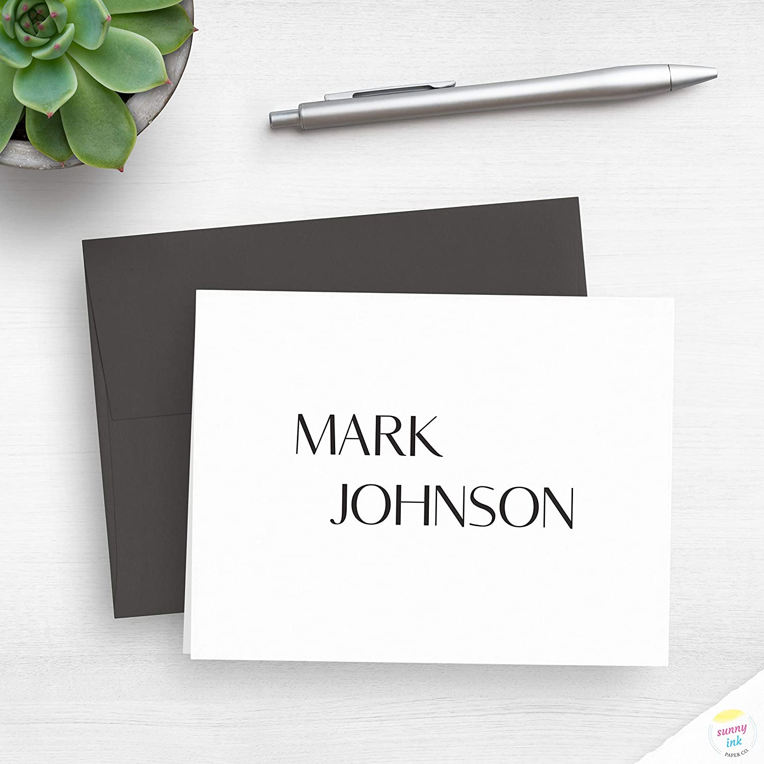 Popular brand Oakland Mall in the world Classic Neutral Typographic Design Personal Folded - Note Cards