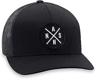 NASH Hat – Nashville Trucker Hat Baseball Cap Snapback Golf Hat (Black)