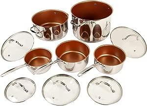 NuWave 31250 10 Piece cookware set, 10Piece, Silver