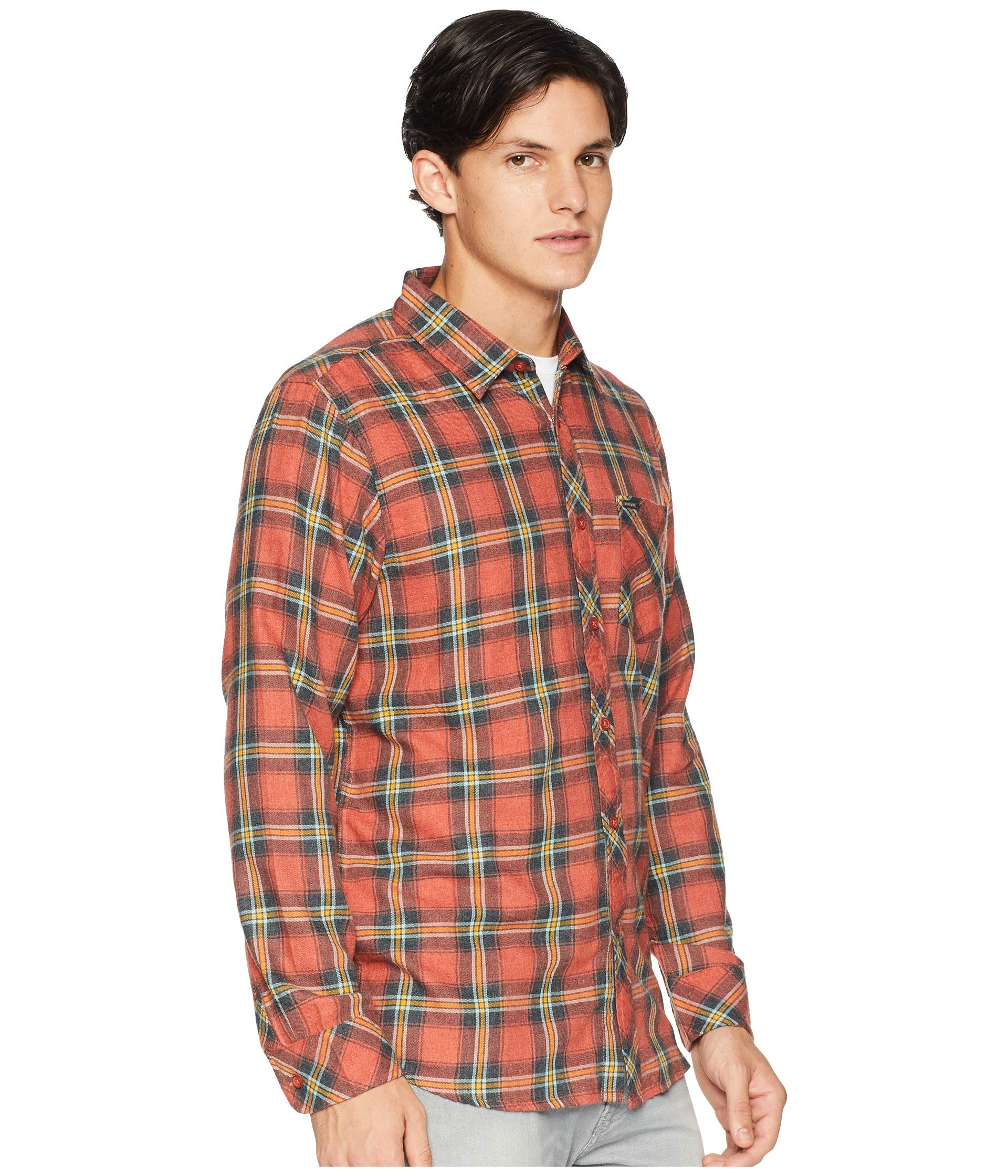 Sleeve Rip Long Dayton Shirt Curl Red qzffY0t6