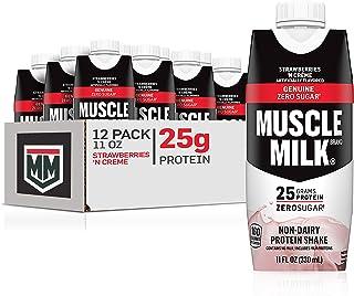 Muscle Milk Genuine Protein Shake, Strawberries 'N Crème, 25g Protein, 11 Fl Oz, 12 Pack