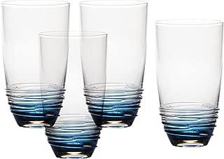 Mikasa Swirl Cobalt Highball Glass (Set of 4), 20 oz