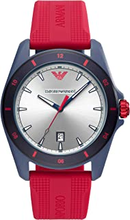 Emporio Armani Mens Analogue Quartz Watch with Silicone Strap AR11219