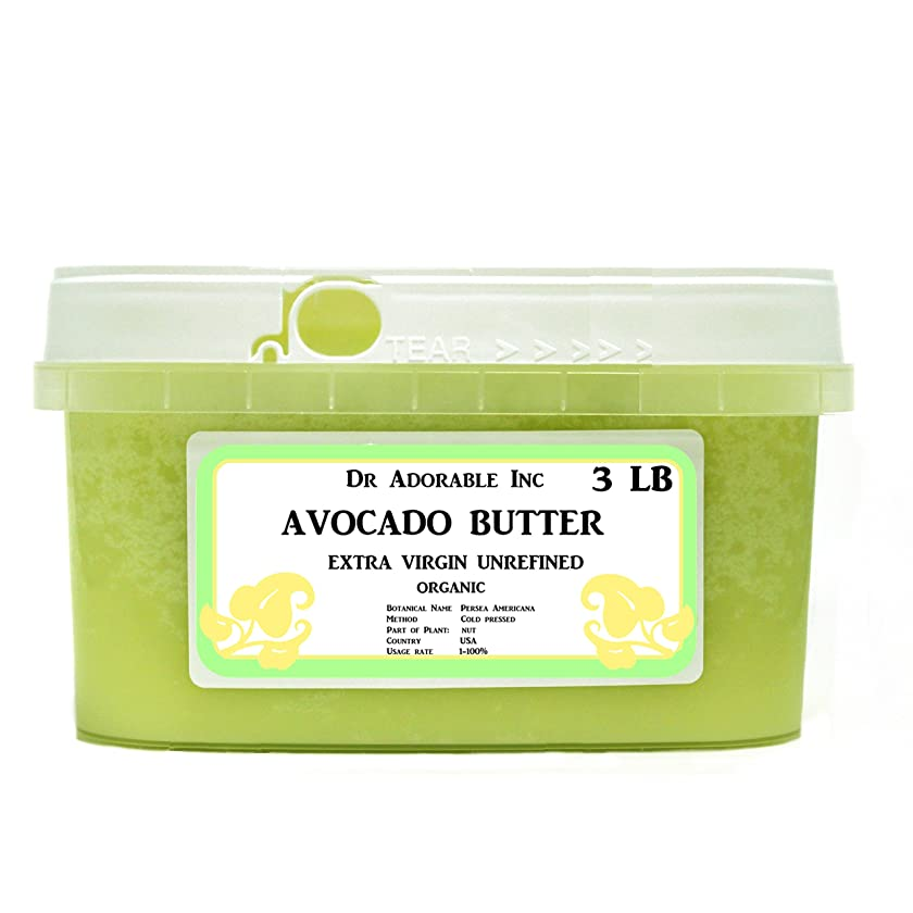 Avocado Butter Extra Virgin Unrefined By Dr.Adorable Pure Raw 48 Oz/ 3 lb
