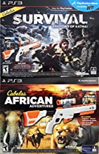 Sony PS3 Cabela`s DOUBLE GUN BUNDLE Shadows of Katmai + African Adventures Games for Playstation 3