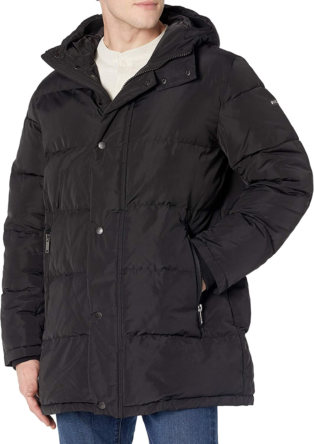 DKNY Men's Patrick Hooded Quilted Parka Jacket