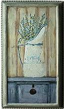 CVHOMEDECO. Rustic Primitive Hand Painted Wooden Frame Wall Hanging 3D Painting Decoration Art, Lavender in Milk Jar Desig...