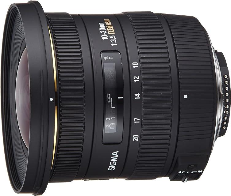 Sigma EX DC HSM NAF - Objetivo para Nikon (10-20mm f/3.5 82 mm) Color Negro
