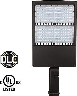 LED Parking Lot Lights, 5000K LED Shoebox Lights, Waterproof IP65, Commercial Area Street Security Lighting Fixture (300W Without Photocell, Bracket Type DM)