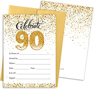 Best 90th birthday invitations with envelopes Reviews