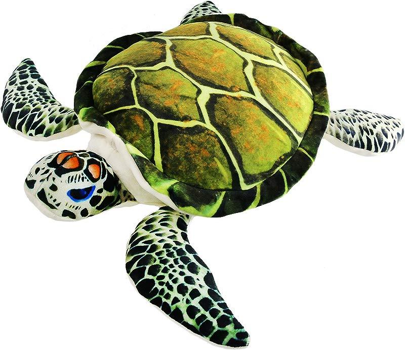 Athoinsu Realistic Sea Turtle Stuffed Animals Ocean Life Tortoise Plush Toy Throw Pillow Birthday For Kids Toddlers 18