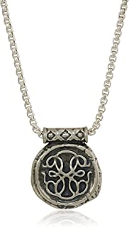 Alex and Ani Men's Path of Life 32-Inch Pendant Necklace, Sterling Silver, Expandable