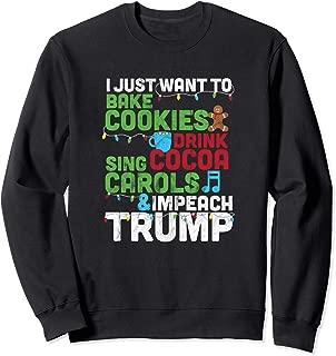 Christmas Impeach Trump Distressed Anti-Trump Sweatshirt