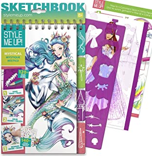 Style Me Up - Fashion Design Coloring Book for Girls. Trace, Color and Decorate - The Mystical Collection - SMU-1406