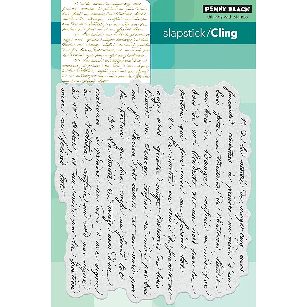 Penny Black Script Cling Unmounted Rubber Stamp (40-470)