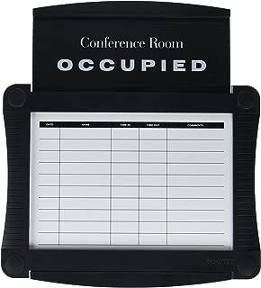 Quartet Conference Room Scheduler, 14.25 x 15.5 Inches, Black (995)