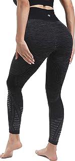 RUNNING GIRL High Waist Seamless Yoga Leggings for Women,Tummy Control Laser Cut-Out Compression Shapewear Leggings