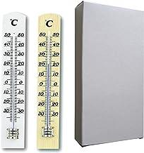 TFA Dostmann 95.1031 Thermometerset van hout, beuken, natuur/wit