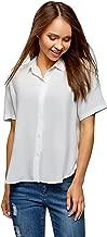 oodji Ultra Women's Short Sleeve Viscose Blouse