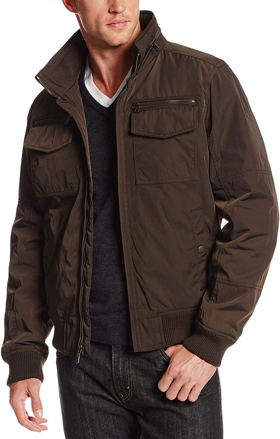 Tommy Hilfiger Men's Water Resistant Performance Bomber Jacket (Standard and Big & Tall)