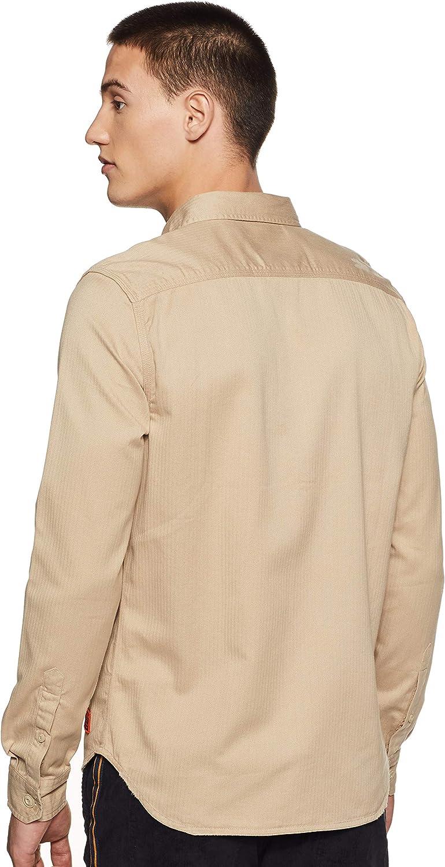 Superdry Camisa de hombre con parches Rookie Repair: Amazon ...