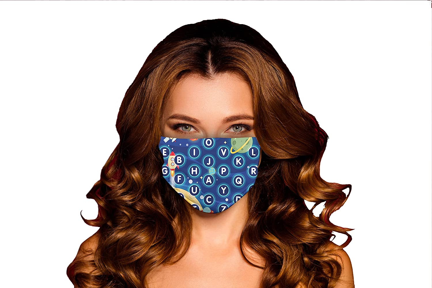 Windproof Activated Carbon mask Random Alphabet Letters Over item handling Indianapolis Mall of The i