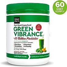 Vibrant Health, Green Vibrance, Plant-Based Superfood Powder, 25 Billion Probiotics Per Scoop, Vegetarian and Gluten Free, 60 Servings (FFP)