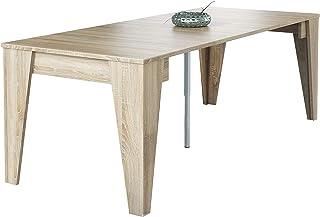 Skraut Home - Table Console TM, Console de Salle à Manger Extensible avec rallonges jusqu'à 239 cm, Couleur chêne, fermée...