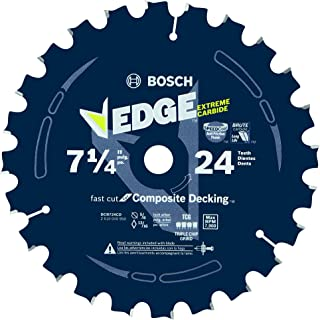 Bosch DCB724CD 7-1/4 In. 24 Tooth Edge Circular Saw Blade for Composite Decking