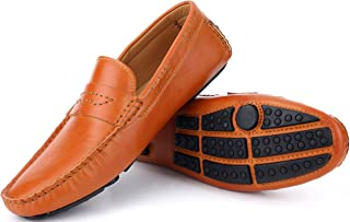 88dde706496 Mio Marino Mens Loafers - Italian Dress Casual Loafers for Men - Slip-on  Driving