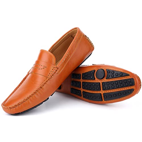6fe85d136885 Mio Marino Mens Loafers - Italian Dress Casual Loafers for Men - Slip-on  Driving