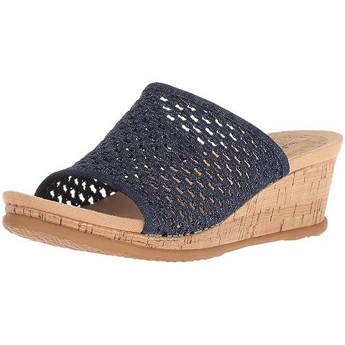 137acd16ba6 Denim Wedge Sandals: Amazon.com