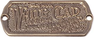 Antique Ice Box Name Plate Ice Box Nameplate Label Solid Brass Antique Finish, Reproduction of Antique White Clad Ice Box Hardware, Beautiful Cabinet Name Plate