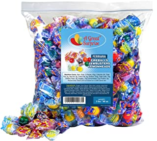 Atomic Fireballs, Jawbreakers, Lemonheads – Assorted Candy – Ferrara Pan Candy Assortment – Bulk Candy 3LB
