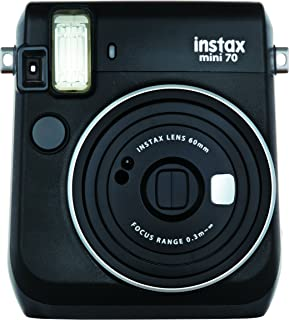 Instax Mini 70 Cámara instantánea analógica (ISO 800 0.37x f 60 mm 1:12.7 Flash automático) Tamaño Único Negro