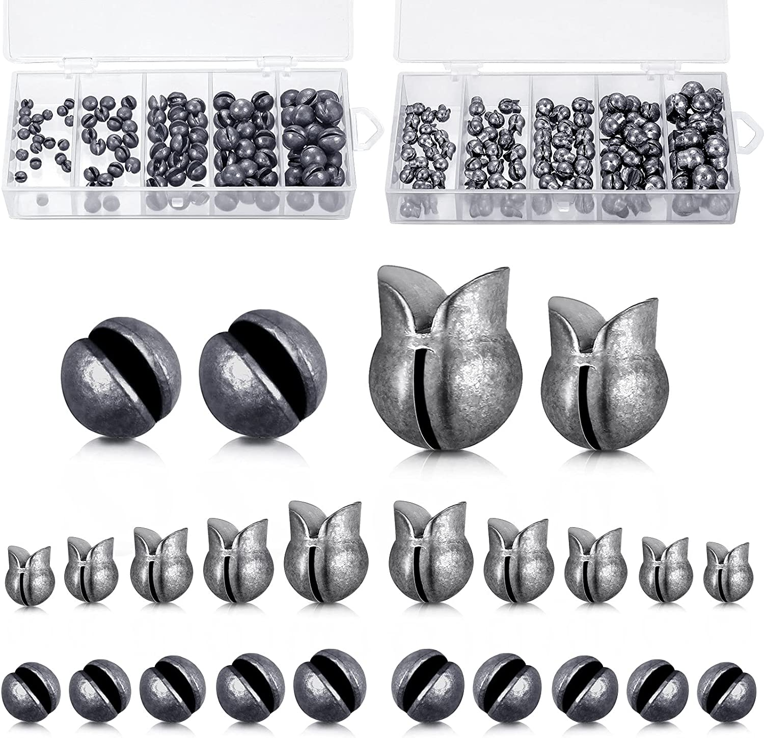 Gejoy 200 Soldering Pieces Fishing Weights Kit 2021 spring and summer new Sinkers Shot Split