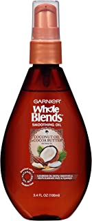 Garnier Hair Care Whole Blends Smoothing Oil with Coconut Oil & Cocoa Butter Extracts, 3 Count