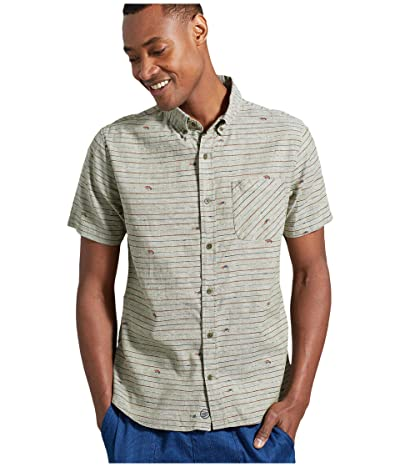 United By Blue All Daytm Chambray Short Sleeve Button-Down (Olive) Men
