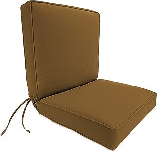Jordan Manufacturing Dinning Boxed Chair Cushion in Acrylic Teak Canvas